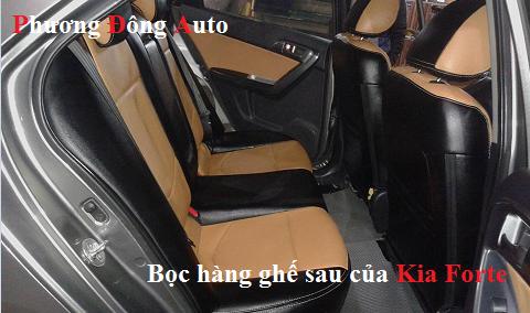 Bọc ghế da thật công nghiệp Kia Forte   Bọc ghế Kia Forte pha đen da bò