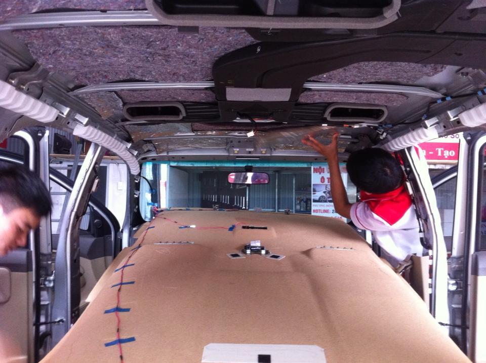 Chống nóng trần ô tô - thi công lắp đặt chống nóng