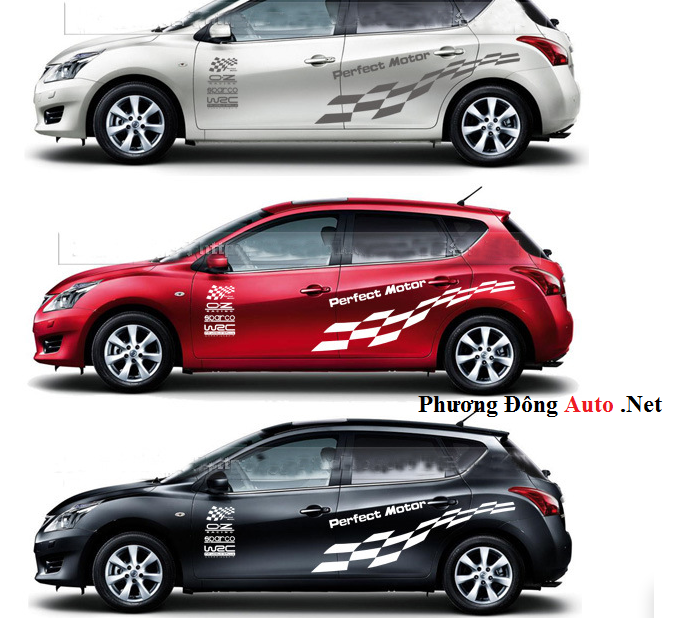 Tem Thể Thao Perfect Motor Cực đẹp Cho Xe ô Tô