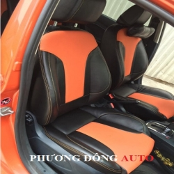 Bọc ghế da Ford Fiesta ( Màu đen pha da bò)