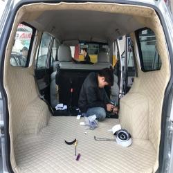 Độ trần và sàn xe trở tiền ngân hàng PAJERO SPORT 2008